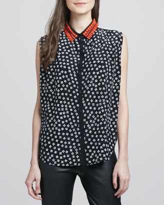 Elizabeth and James Julian Bead-Collar Blouse
