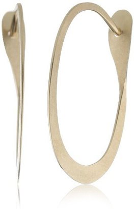 "Melissa Joy Manning MJM Classic"" 14k Gold Small Oval Hoop Earrings"