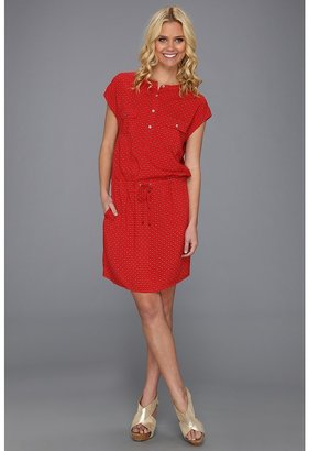 Vince Camuto TWO by Tie Print Tie Waist Dress (Fiery Red) - Apparel