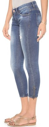 Blank Straight Leg Jeans with Ankle Zips