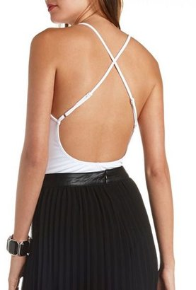 Charlotte Russe Strappy Backless Bodysuit