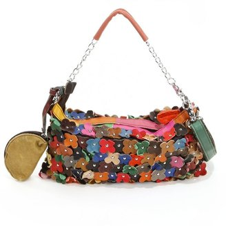 AmeriLeather Hana Studded Floral Convertible Clutch