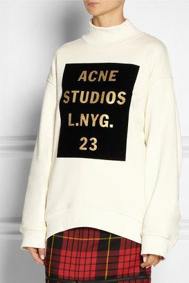 Acne Beta Double velvet-flocked cotton sweatshirt