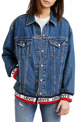 Levi's Good Sport Baggy Sport Tape Trucker Denim Jacket