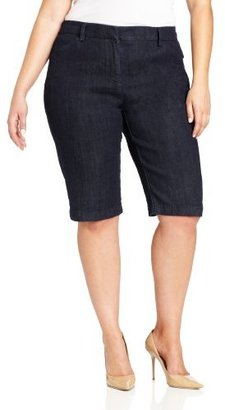 Jones New York Women's Plus-Size Classic Denim Bermuda Short