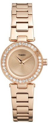 Timex ® 'Starlight' Crystal Bezel Bracelet Watch, 24mm $160 thestylecure.com