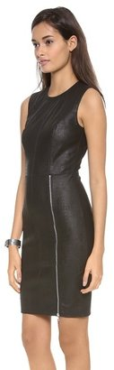 Yigal Azrouel Embossed Stretch Leather Dress