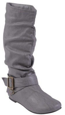 ADI Glaze by Womens Buckle Accent Faux Suede Boot