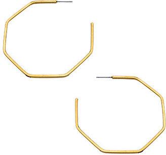 Jules Smith Designs Gold Prism Hoop Earrings
