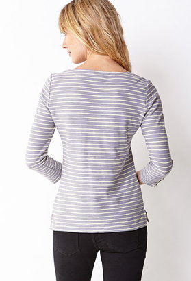 Forever 21 Essential Striped 3/4 Sleeve Top