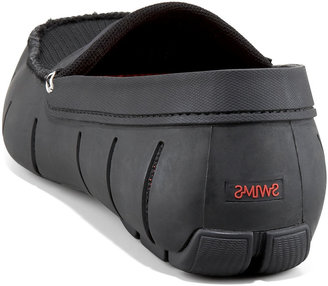 Swims Rubber Penny Loafer, Black