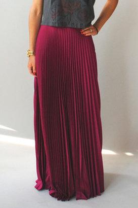 Blaque Label Raspberry Pleated Maxi Skirt