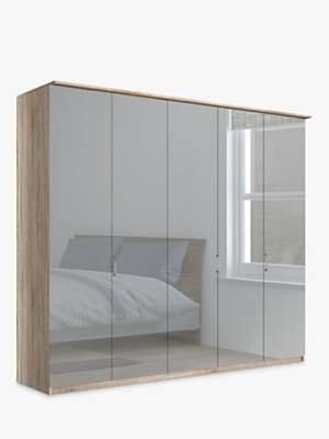 John Lewis & Partners Elstra 250cm Wardrobe with Mirrored Hinged Doors