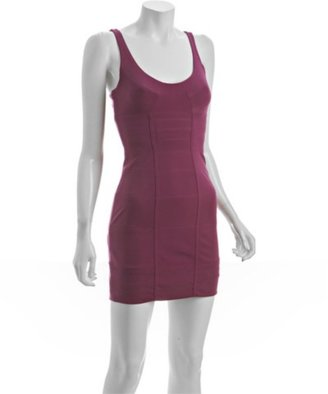 BCBGMAXAZRIA BCBGeneration orchid doubleknit scoop neck tank dress