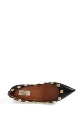 Valentino 'Gryphon' Studded Ballet Flat