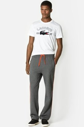 Lacoste Fleece Track Pant With Piping