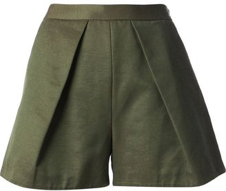 MSGM flared tailored shorts