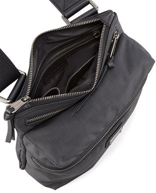 Dolce & Gabbana Nylon Zip-Top Messenger Bag, Black