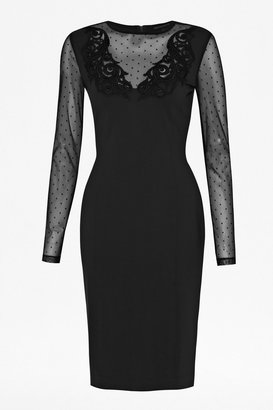 French Connection Marie Dot Embellished Dress