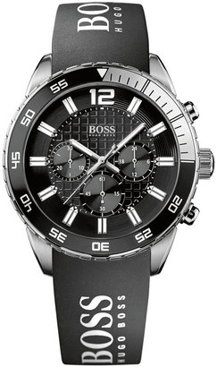 BOSS ORANGE Hugo Boss Watch, Men's Chronograph Black Silicone Strap 44mm 1512868