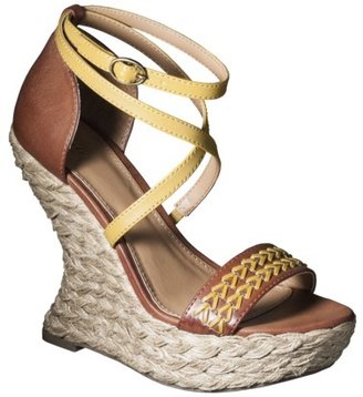 Mossimo Women's Vergie Sculpted Wedge - Tan