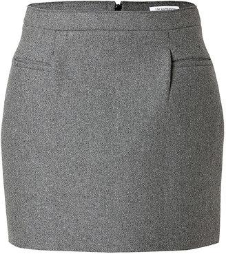J.W.Anderson Wool-Blend Sponge Mini Skirt in Grey