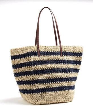 Magid Striped Woven Tote Bag