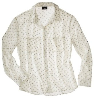 Mossimo Women's Long Sleeve Polka Dot Blouse