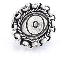 Plated Evil Eye Link Ring