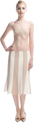 Marc Jacobs Doubleface Wool Pieced Skirt in Nude