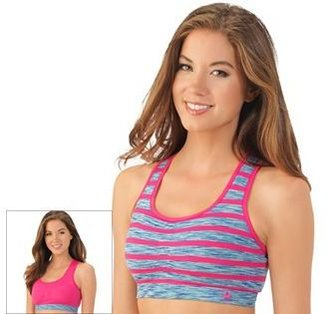 Lily of France Bra: Reversible Medium-Impact Sports Bra: 2151801 $32 thestylecure.com