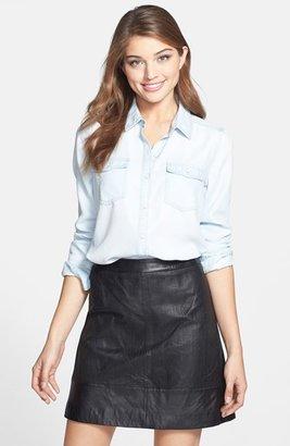 Halogen Long Sleeve Chambray Shirt (Regular & Petite)