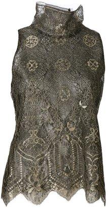 Wes Gordon lace sleeveless top