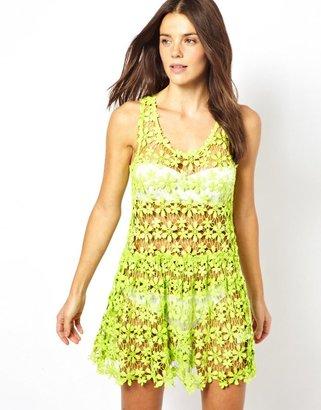 Seafolly Bandit Cotton Crochet Dress - Multi