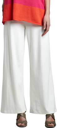 Joan Vass Ponte Wide-Leg Pants