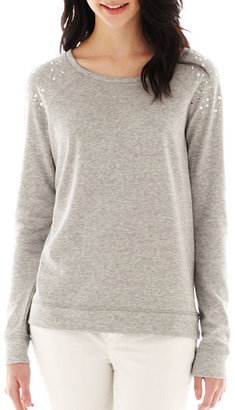 JCPenney a.n.a Embellished Sweatshirt