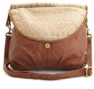 Charlotte Russe Fold-Over Zip Front Cross-Body Bag