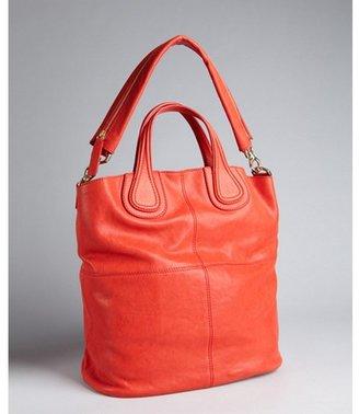 Givenchy medium red leather 'Nightingale Zanzi' tote