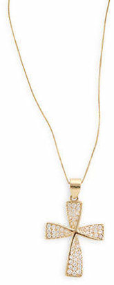 Tag Heuer FINE JEWELLERY 14k Yellow Gold Twisted Cross Pendant Necklace