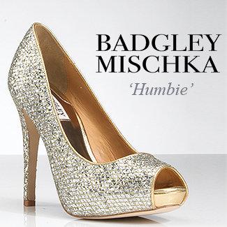Badgley Mischka Humbie - Glitter Platform Pump