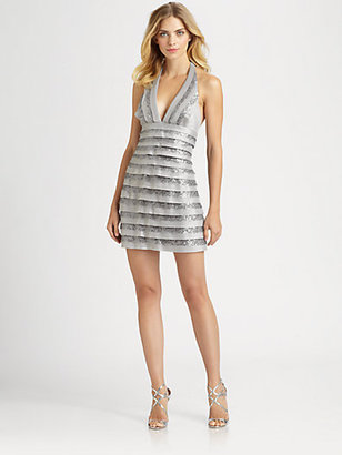 BCBGMAXAZRIA Viveca Halter Dress