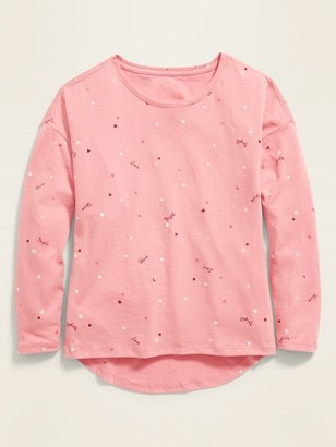 Old Navy Softest Printed Long-Sleeve Tee for Girls
