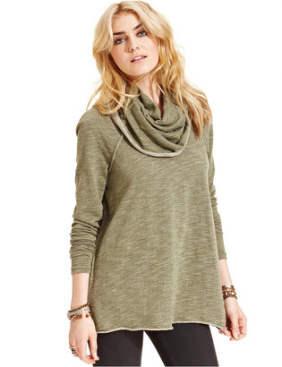 Free People Cowl-Neck Sweater $68 thestylecure.com