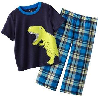 Carter's plaid dinosaur pajamas - baby