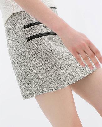 Zara Mini Skirt With Zips