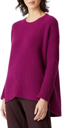 Eileen Fisher Petite Recycled Cashmere High-Low Sweater