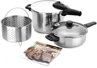 Fagor Elite 5 Piece Pressure Cooker Set, Created for Macy's