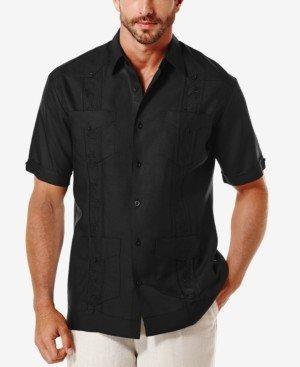 Cubavera Short-Sleeve Embroidered Guayabera Shirt