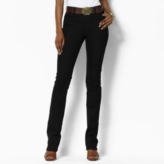 Ralph Lauren Petite Classic Straight Black Denim
