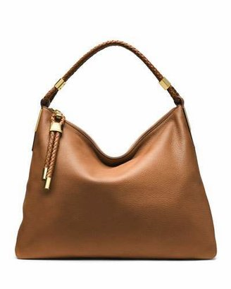 Michael Kors Skorpios Top-Zip Hobo Bag, Luggage $795 thestylecure.com